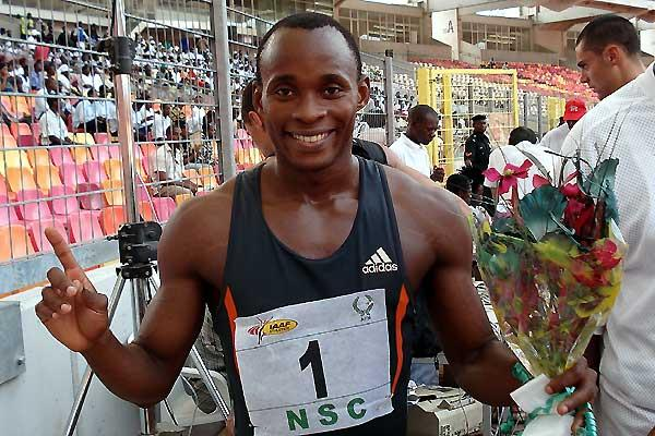 Olusoji Fasuba after his win in Abuja (Louisette Thobi)