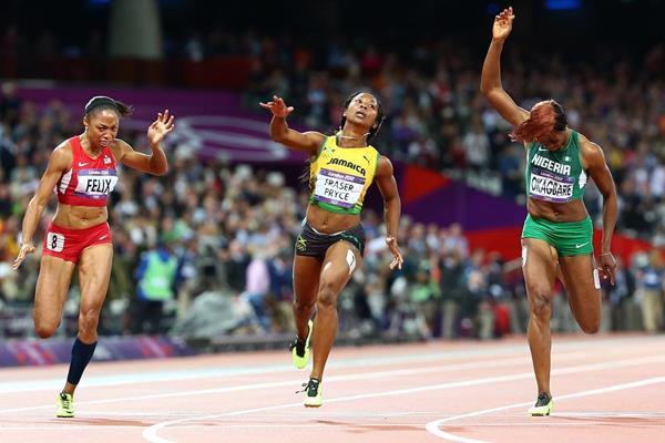 london 2012 event report women 39 s 100m final. Black Bedroom Furniture Sets. Home Design Ideas