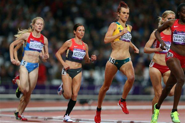 Eloise Wellings of Australia competes in the Women's 10,000m Final on Day 7 of the London 2012 Olympic Games at Olympic Stadium on August 3, 2012 (getty Images)