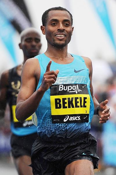 Kenenisa bekele will debut in parismarathon