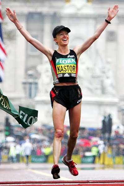 Deena Kastor breaks USA record in London Marathon (Getty Images)
