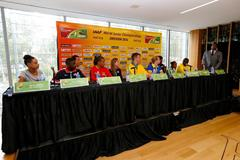 The press conference ahead of the IAAF World Junior Championships, Oregon 2014 (Getty Images)