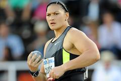 Valerie Adams in action at the 2012 Diamond League meeting in Stockholm (Anders Sjogren)