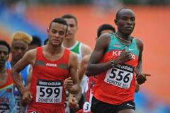 Titus Kipruto Kibiego in the boys' 1500m at the IAAF World Youth Championships 2013 (Getty Images)