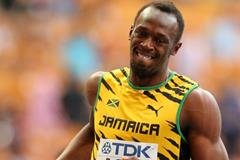 Usain Bolt in the mens 4x400m Relay at the IAAF World Athletics Championships Moscow 2013 (Getty Images)