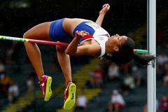 Morgan Lake clears 1.94m in the heptathlon high jump at the 2014 IAAF World Junior Championships in Eugene (Getty Images)