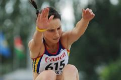 Florentina Marincu on her way to winning the long jump at the 2013 World Youth Championships (Getty Images)