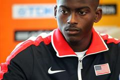 USA's Trayvon Brommell at the press conference ahead of the IAAF World Junior Championships, Oregon 2014 (Getty Images)