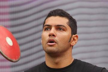 Omar Ahmed El Ghazaly of Egypt competes in the Men's Discus Throw qualification on Day 10 of the London 2012 Olympic Games at the Olympic Stadium on August 6, 2012 (Getty Images)