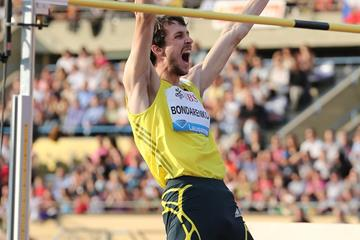 Bohdan Bondarenko at the 2013 IAAF Diamond League meeting in Lausanne (Gladys von der Laage)