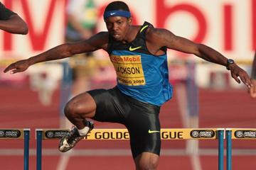 Bershawn Jackson wins the 400m hurdles in Oslo (Getty Images)