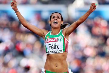 Portugal's Ana Dulce Felix, commanding 10,000m victory at the European Championships (Getty Images)