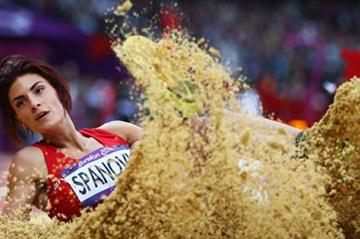 Ivana Spanovic of Serbia competes in the Women's Long Jump Qualifications on Day 11 of the London 2012 Olympic Games at Olympic Stadium on August 7, 2012 (Getty Images)
