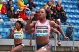 Veronica Campbell-Brown winning over 200m at the 2013 IAAF Diamond League in New York (Victah Sailer)