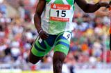 44.10 African record for Gary Kikaya in Stuttgart (Getty Images)