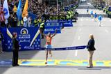 Rita Jeptoo wins the 2013 Boston Marathon, seven years after her first victory (Victah Sailor)