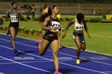 Shelly-Ann Fraser-Pryce wins at the 2013 Jamaica International Invitational meeting in Kingston (Anthony Foster)