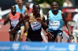 Ezekiel Kemboi and Conseslus Kipruto battling at the 2013 IAAF Diamond League in Eugene  (Kirby Lee)