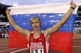 Andrey Silnov of Russia celebrates winning the men's High Jump in Gothenburg (Getty Images)
