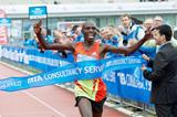 Wilson Chebet takes down the course record in Amsterdam (Amsterdam organisers)