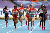 Action shot in the womens 800m semi-finals at the IAAF World Athletics Championships Moscow 2013 (Getty Images)