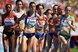 Fionnuala Britton and Sophie Duarte at the front of the field (Getty Images)