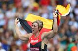 Christina Obergfoll in the womens Javelin Throw Final at the IAAF World Athletics Championships Moscow 2013 (Getty Images)
