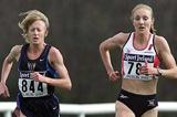Deena Drossin (USA) runs next to Britain's Paula Radcliffe in Dublin World Cross- 2002 (Getty Images)