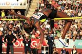 Chaunte Lowe on her way to high jump victory in Oslo (Mark Shearman)