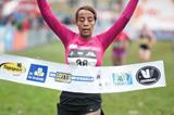 Sifan Hassan wins at the 2013 Iris Lotto Crosscup in Brussels (Erik van Leeuwen)