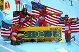 The victorious US men's 4x400m team at the 2014 IAAF World Indoor Championships in Sopot (Getty Images)