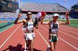 Mexico's Noe Hernandez (silver) and Bernard Segura (dq) at the Sydney Olympics (Getty Images)