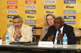 IAAF President Lamine Diack at the final daily briefing in Osaka (Getty Images)