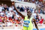 Silas Kiplagat winning the 1500m at the 2014 IAAF Diamond League meeting in Monaco (Philippe Fitte)