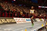 Ethiopia's Genzebe Dibaba on her way to breaking the world indoor 3000m record in Stockholm (DECA Text & Bild)