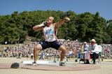 Adam Nelson of the USA in the men's Shot Put in Olympia (Getty Images)