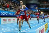 Pavel Maslak wins the 400m at the 2014 IAAF World Indoor Championships in Sopot (Getty Images)