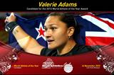 Valerie Adams, Nomonated for the 2013 World Athlete of the Year award (IAAF)