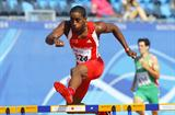 Jehue Gordon of Trinidad & Tobago in action in the 400m Hurdles in Moncton (Getty Images)