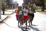 Werknesh Kidane (001) leads the 2009 Confidence Women First 5km Run in Addis Ababa (Elshadai Negash)
