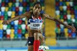Yamile Aldama of Great Britain competes in the Women's Triple Jump qualification - Day one WIC Istanbul (Getty Images)
