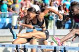 Queen Harrison at the 2014 IAAF Diamond League meeting in New York (Victah Sailer)
