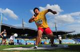 Guo Tianqian in action in the shot put (Getty Images)