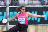 Sandra Perkovic at the 2013 IAAF Diamond League meeting in Lausanne (Gladys von der Laage)