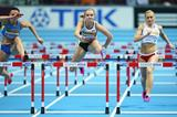 Brianne Theisen-Eaton in the pentathlon 60m hurdles at the 2014 IAAF World Indoor Championships in Sopot (Getty Images)