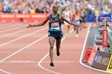 Mo Farah, victorious at the IAAF Diamond League meeting in London (Victah Sailer)