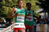 Meseret Hailu taking a narrow victory in Kavarna (Getty Images)