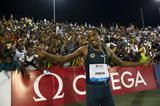 Mohammed Aman after winning the 800m at the 2014 IAAF Diamond League meeting in Doha (Deca Text & Bild)